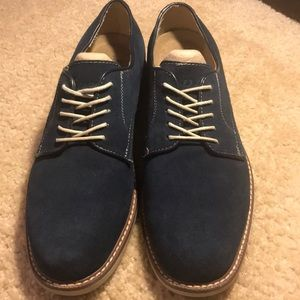 Men's Bass Brockton Navy Suede Shoe